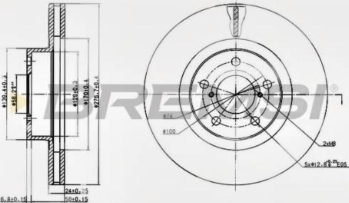 Bremsi CD6679V - Bremžu diski interparts.lv