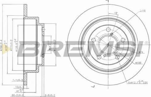 Bremsi CD6678S - Bremžu diski interparts.lv