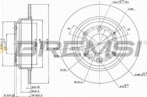 Bremsi CD6672S - Bremžu diski interparts.lv