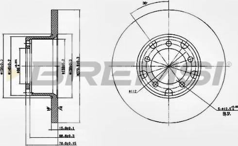 Bremsi CD6095S - Bremžu diski interparts.lv
