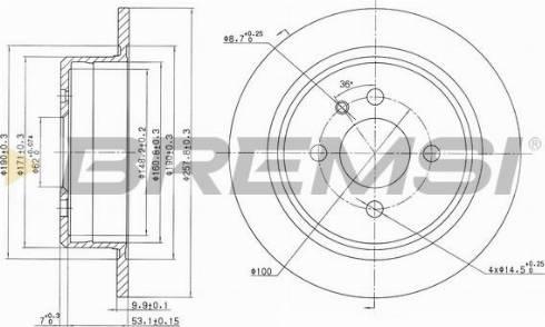 Bremsi CD6093S - Bremžu diski interparts.lv