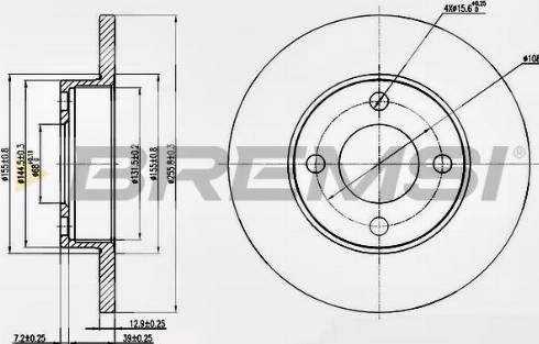Bremsi CD6048S - Bremžu diski interparts.lv
