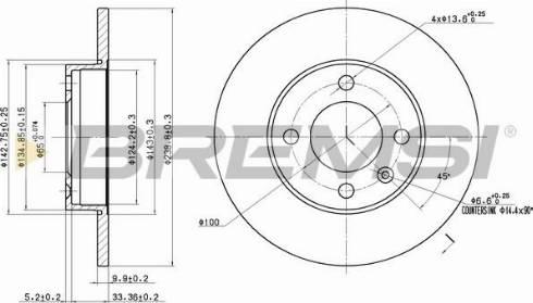 Bremsi CD6042S - Bremžu diski interparts.lv
