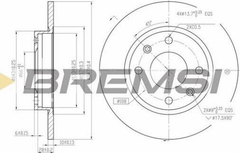 Bremsi CD6059S - Bremžu diski interparts.lv