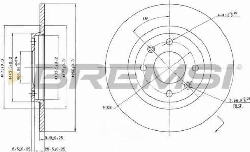 Bremsi CD6051S - Bremžu diski interparts.lv