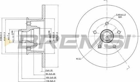 Bremsi CD6057S - Bremžu diski interparts.lv