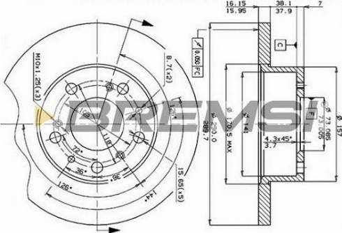 Bremsi CD6069S - Bremžu diski interparts.lv