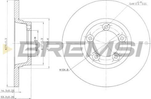 Bremsi CD6065S - Bremžu diski interparts.lv