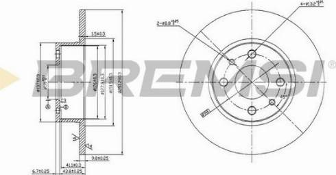Bremsi CD6066S - Bremžu diski interparts.lv