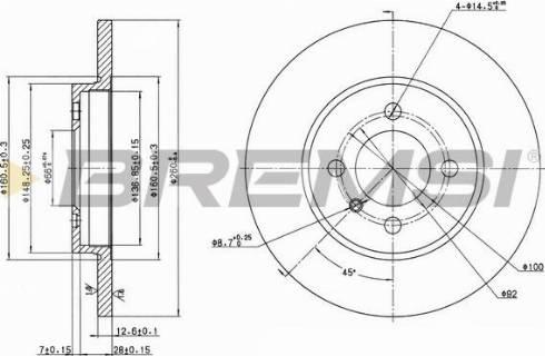 Bremsi CD6062S - Bremžu diski interparts.lv