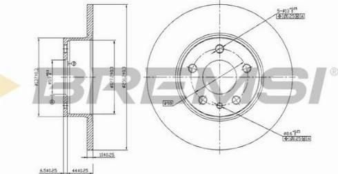 Bremsi CD6067S - Bremžu diski interparts.lv