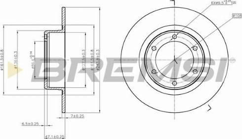 Bremsi CD6011S - Bremžu diski interparts.lv