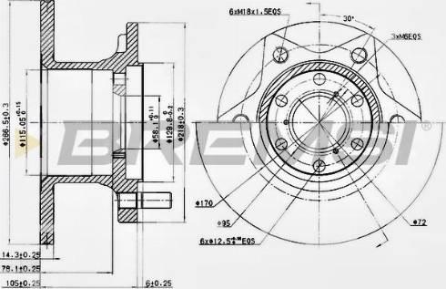 Bremsi CD6089S - Bremžu diski interparts.lv