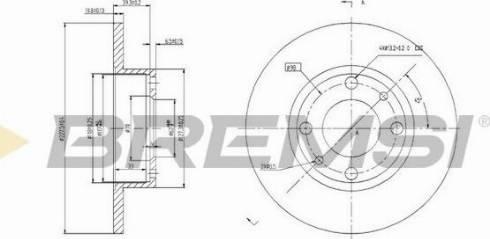Bremsi CD6083S - Bremžu diski interparts.lv