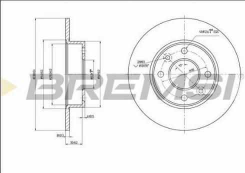 Bremsi CD6070S - Bremžu diski interparts.lv