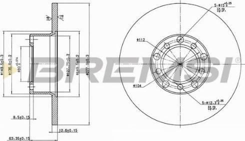Bremsi CD6071S - Bremžu diski interparts.lv