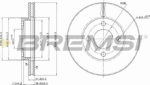 Bremsi CD6193V - Bremžu diski interparts.lv