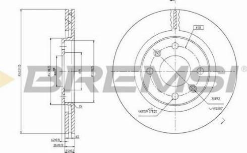 Bremsi CD6192V - Bremžu diski interparts.lv