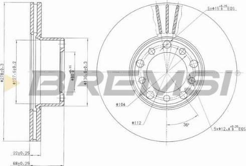Bremsi CD6143V - Bremžu diski interparts.lv