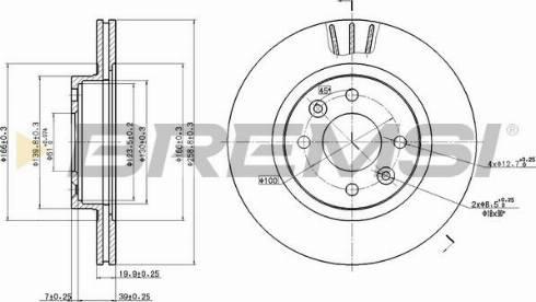 Bremsi CD6159V - Bremžu diski interparts.lv