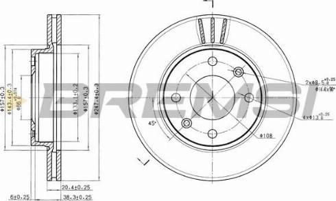 Bremsi CD6154V - Bremžu diski interparts.lv