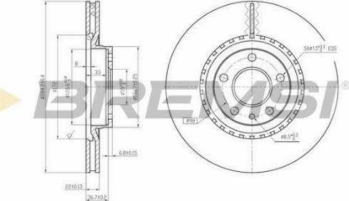 Bremsi CD6156V - Bremžu diski interparts.lv