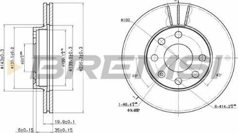 Bremsi CD6151V - Bremžu diski interparts.lv