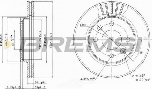 Bremsi CD6158V - Bremžu diski interparts.lv
