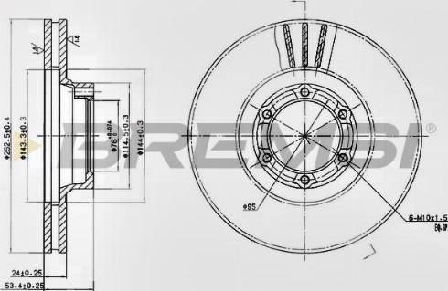 Bremsi CD6160V - Bremžu diski interparts.lv