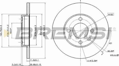 Bremsi CD6103S - Bremžu diski interparts.lv