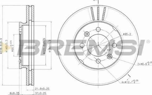 Bremsi CD6189V - Bremžu diski interparts.lv