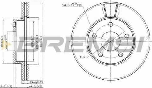 Bremsi CD6180V - Bremžu diski interparts.lv