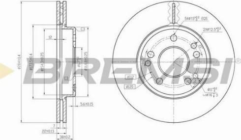 Bremsi CD6181V - Bremžu diski interparts.lv