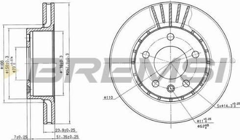 Bremsi CD6188V - Bremžu diski interparts.lv
