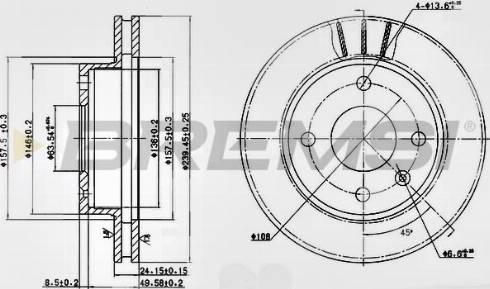 Bremsi CD6183V - Bremžu diski interparts.lv