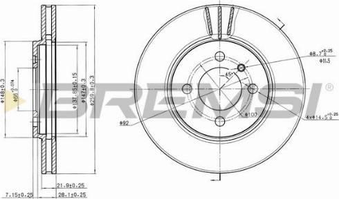 Bremsi CD6182V - Bremžu diski interparts.lv