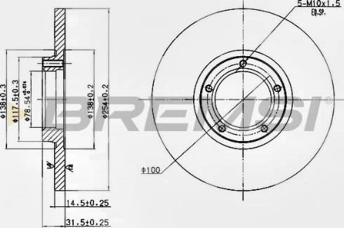 Bremsi CD6138S - Bremžu diski interparts.lv