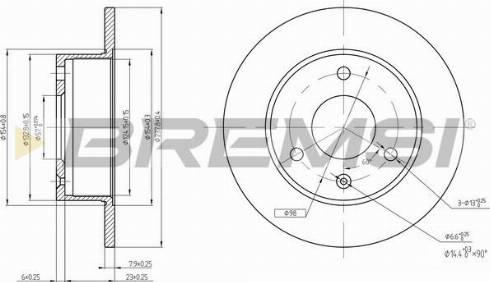 Bremsi CD6132S - Bremžu diski interparts.lv