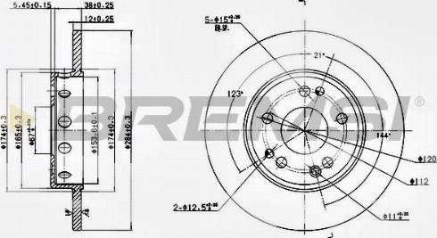 Bremsi CD6124S - Bremžu diski interparts.lv