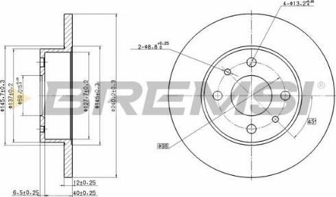 Bremsi CD6125S - Bremžu diski interparts.lv