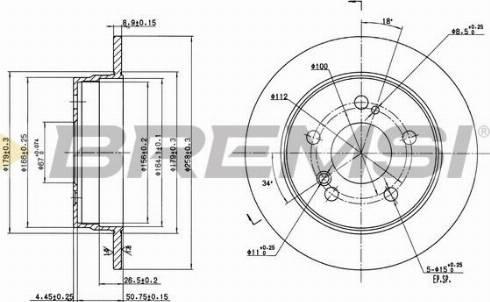 Bremsi CD6122S - Bremžu diski interparts.lv