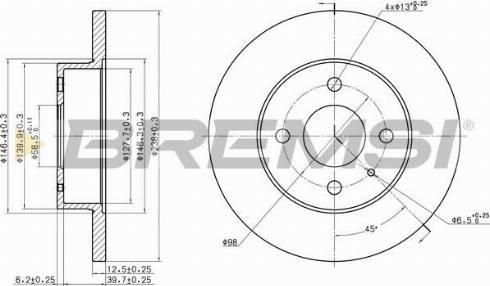 Bremsi CD6127S - Bremžu diski interparts.lv