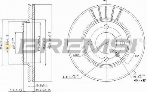 Bremsi CD6175V - Bremžu diski interparts.lv
