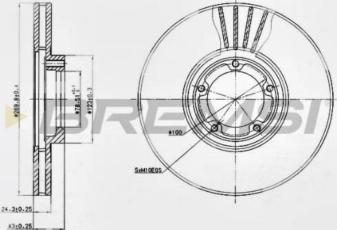 Bremsi CD6849V - Bremžu diski interparts.lv