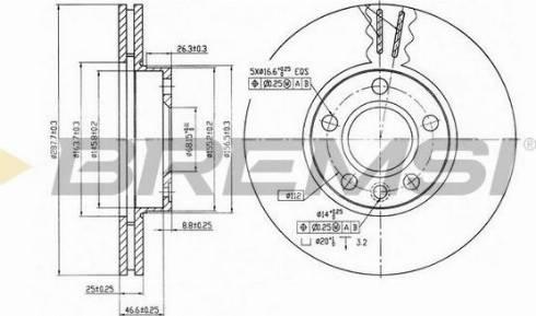 Bremsi CD6846V - Bremžu diski interparts.lv