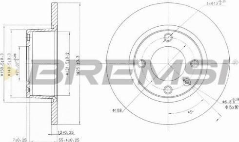 Bremsi CD6840S - Bremžu diski interparts.lv