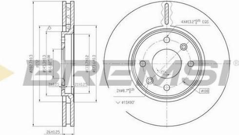 Bremsi CD6841V - Bremžu diski interparts.lv
