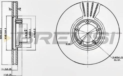 Bremsi CD6848V - Bremžu diski interparts.lv