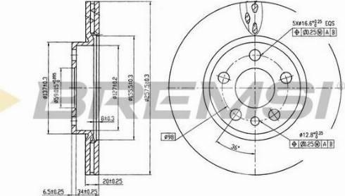 Bremsi CD6842V - Bremžu diski interparts.lv