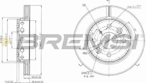Bremsi CD6854V - Bremžu diski interparts.lv